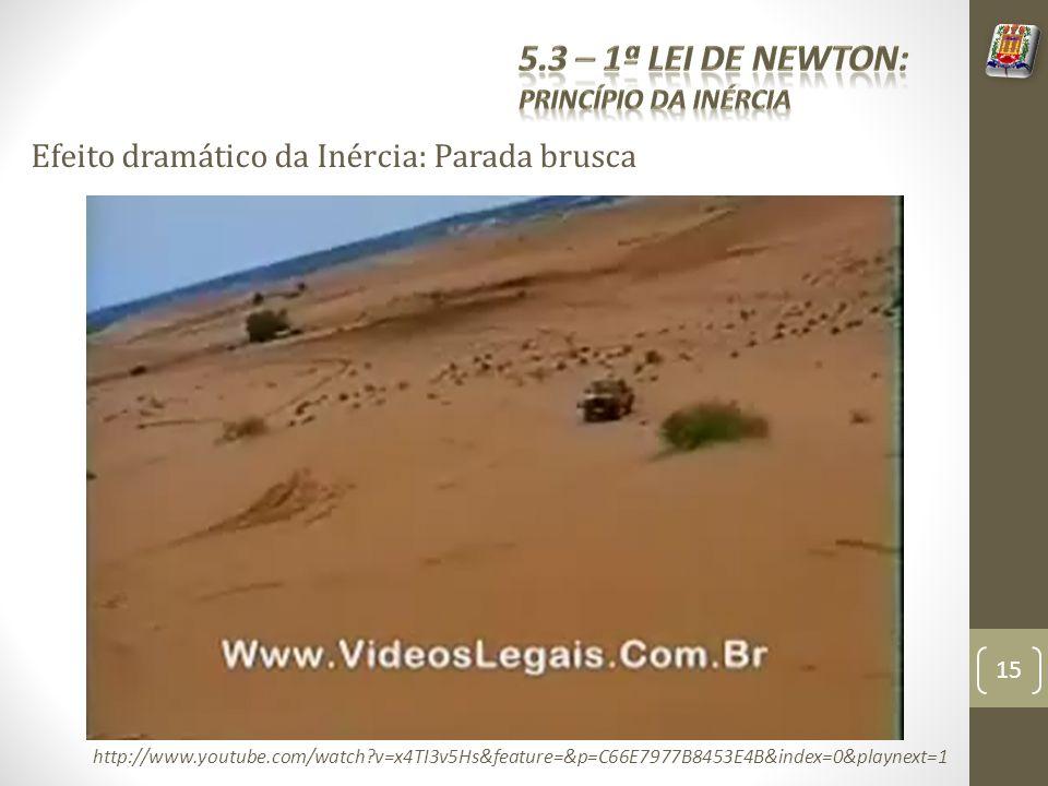 5.3 – 1ª Lei de Newton: Efeito dramático da Inércia: Parada brusca