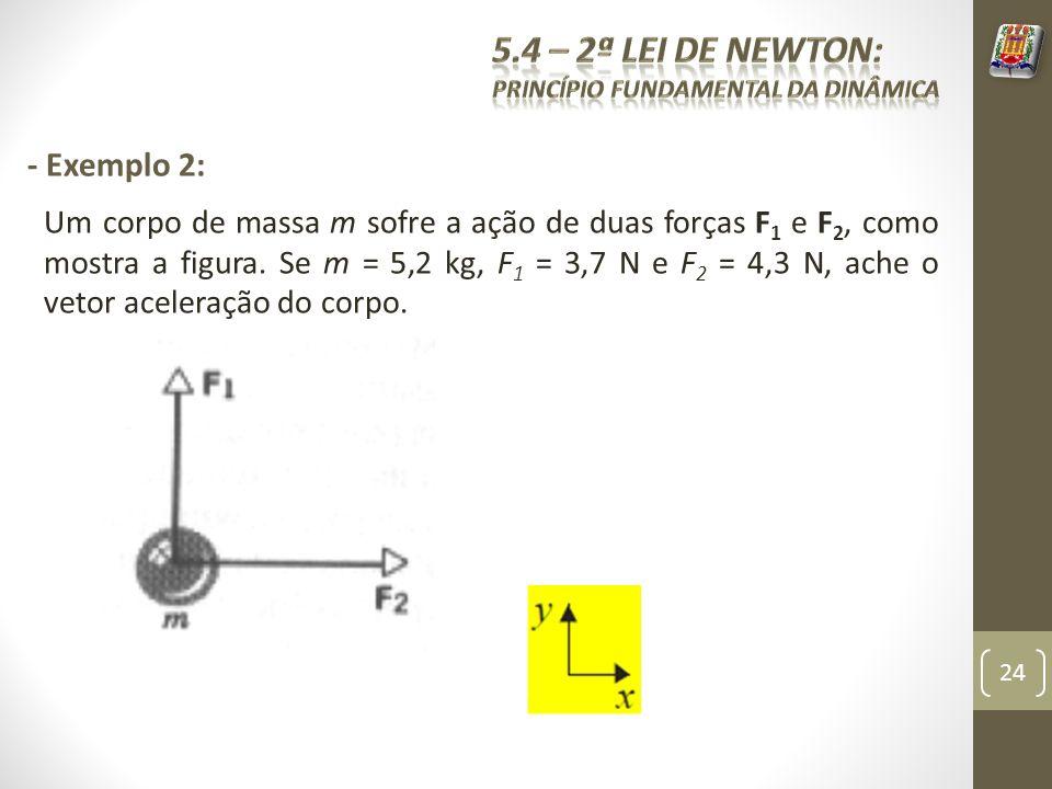 5.4 – 2ª Lei de Newton: - Exemplo 2: