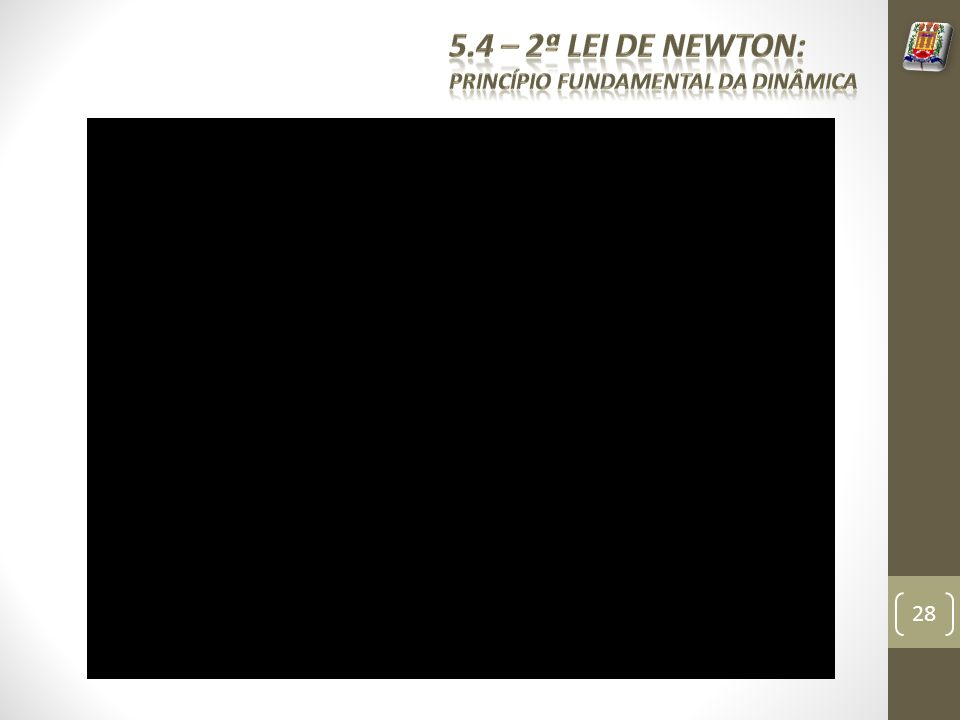 5.4 – 2ª Lei de Newton: Princípio fundamental da dinâmica