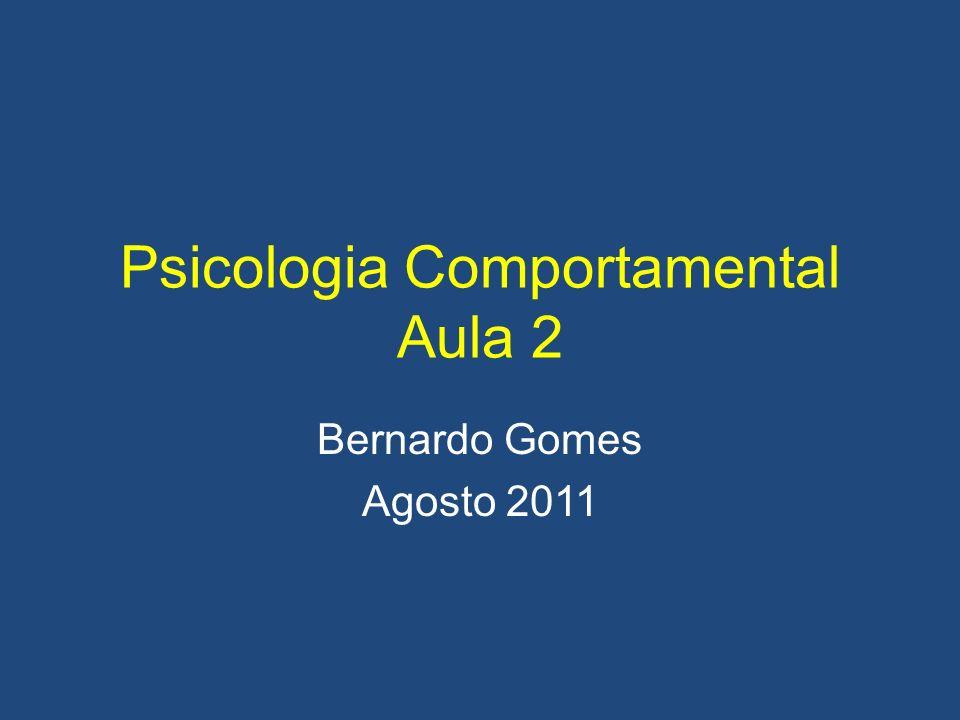 Psicologia Comportamental Aula 2