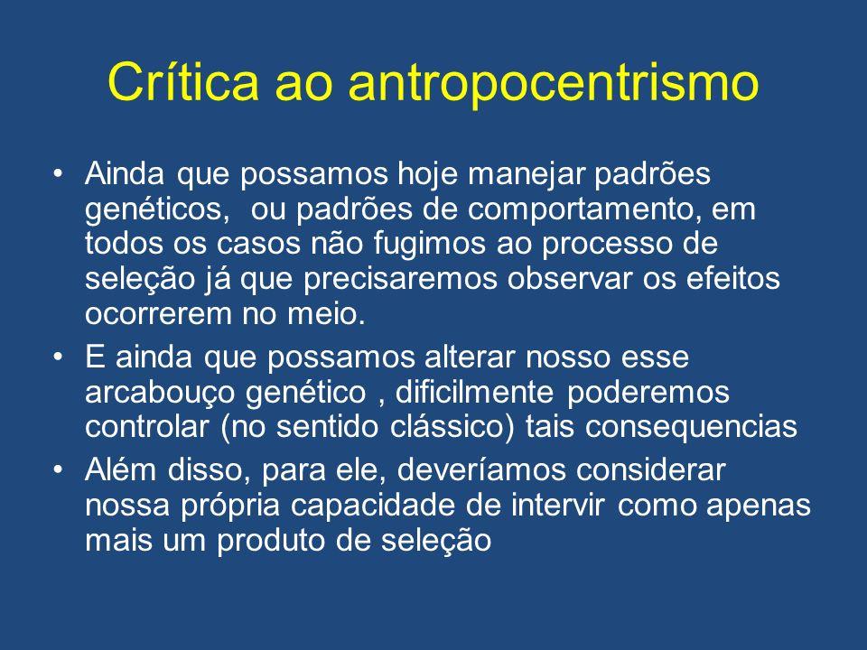 Crítica ao antropocentrismo