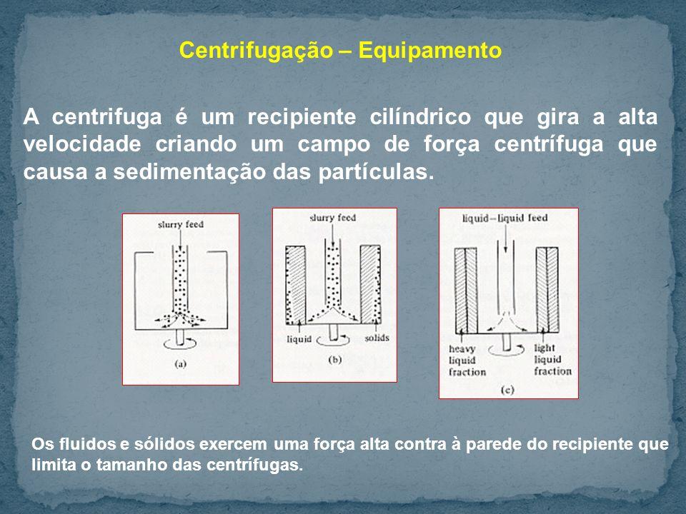 Centrifugação – Equipamento