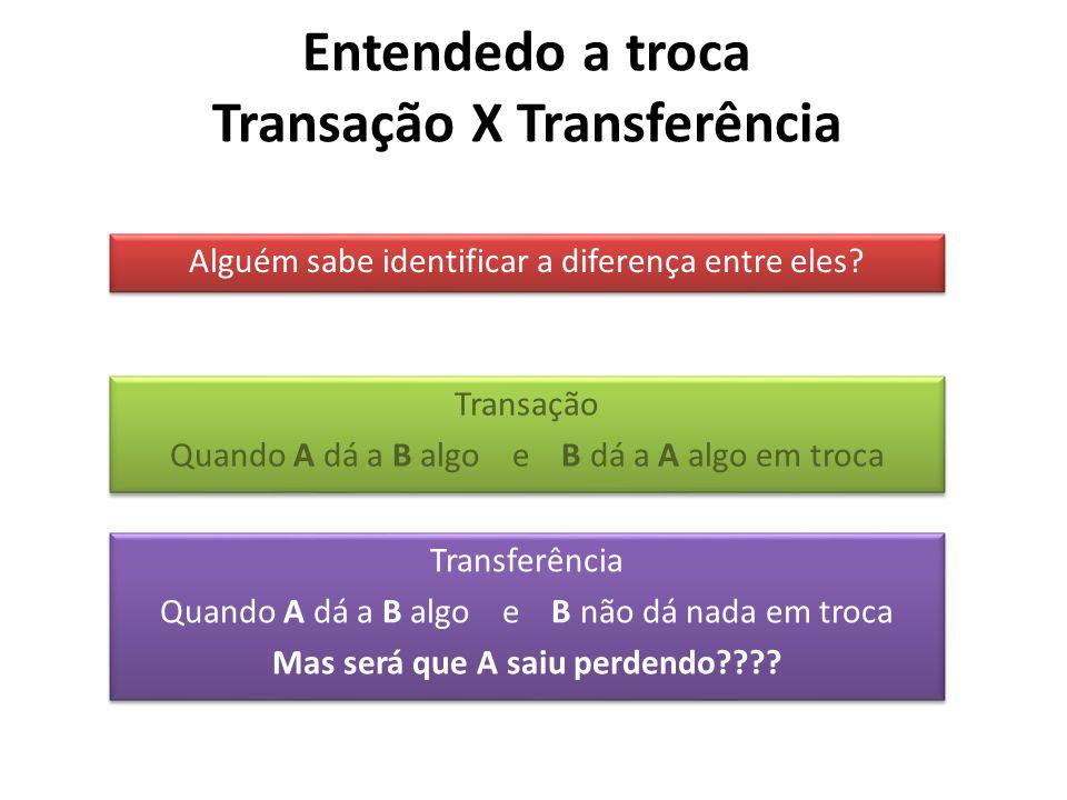 Entendedo a troca Transação X Transferência