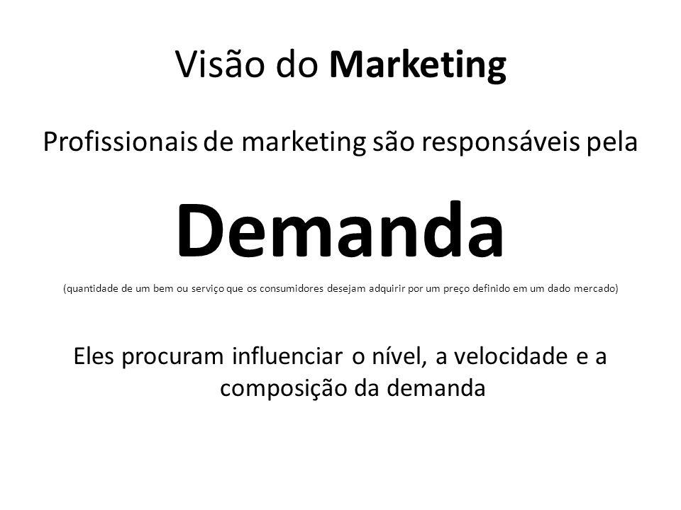 Profissionais de marketing são responsáveis pela