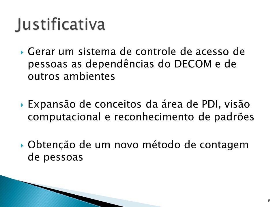 Justificativa Gerar um sistema de controle de acesso de pessoas as dependências do DECOM e de outros ambientes.