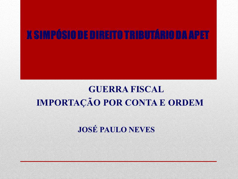 X SIMPÓSIO DE DIREITO TRIBUTÁRIO DA APET