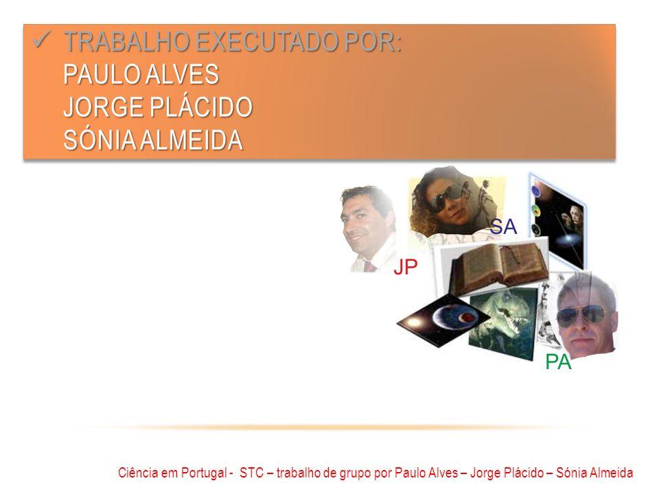 Trabalho executado por: Paulo Alves Jorge Plácido Sónia almeida