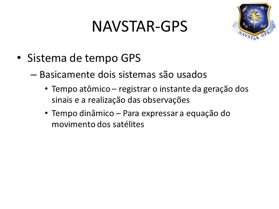 NAVSTAR-GPS Sistema de tempo GPS Basicamente dois sistemas são usados