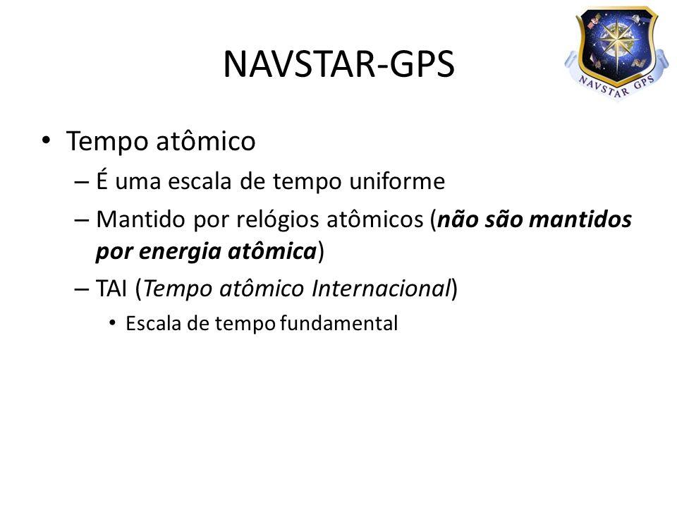 NAVSTAR-GPS Tempo atômico É uma escala de tempo uniforme
