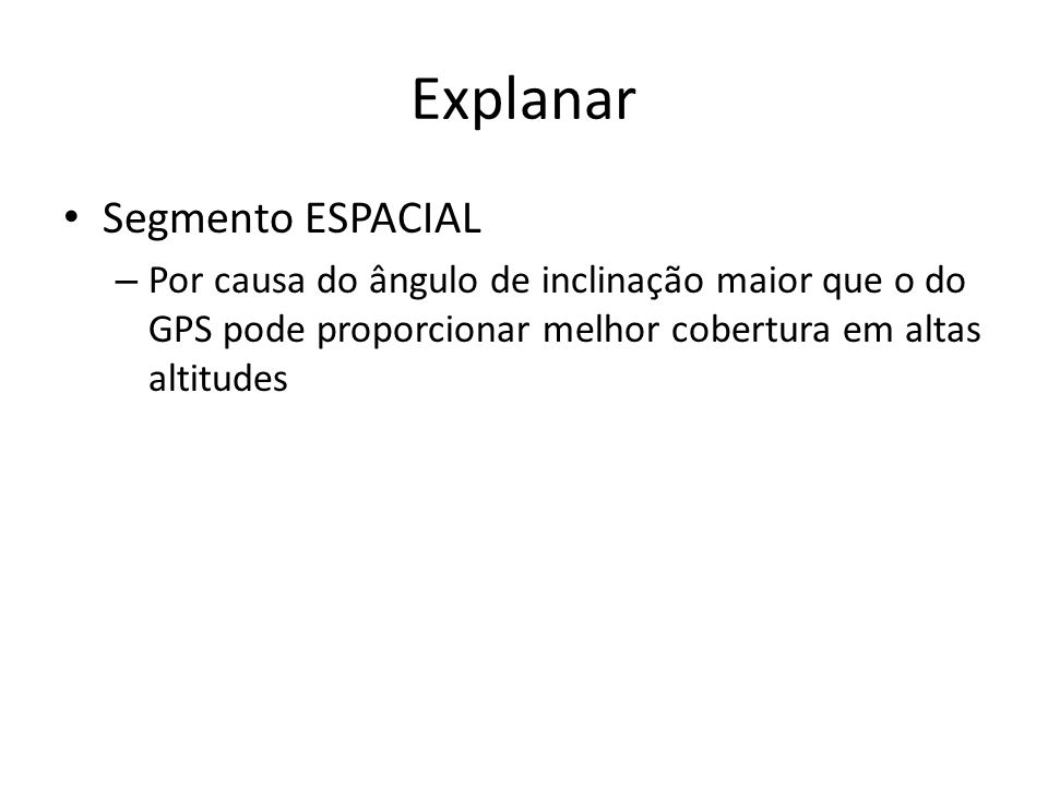 Explanar Segmento ESPACIAL