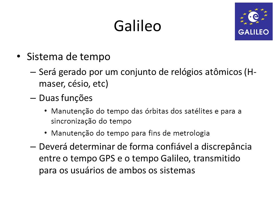 Galileo Sistema de tempo