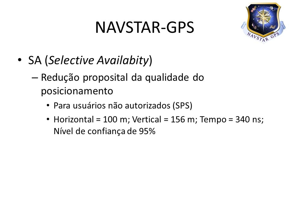 NAVSTAR-GPS SA (Selective Availabity)