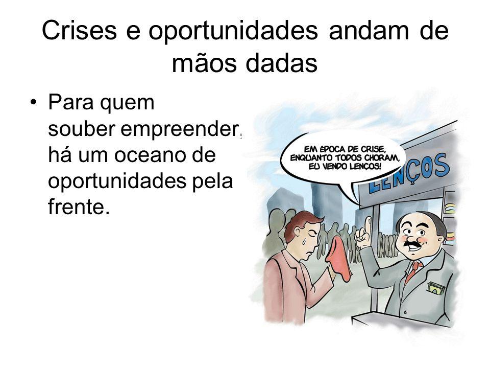Crises e oportunidades andam de mãos dadas