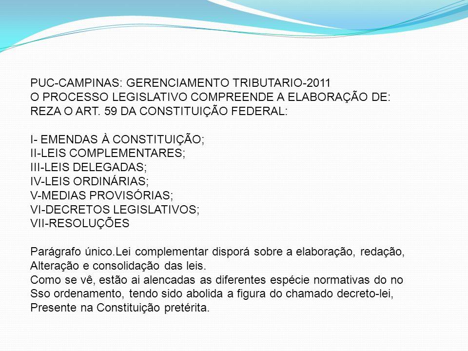 PUC-CAMPINAS: GERENCIAMENTO TRIBUTARIO-2011