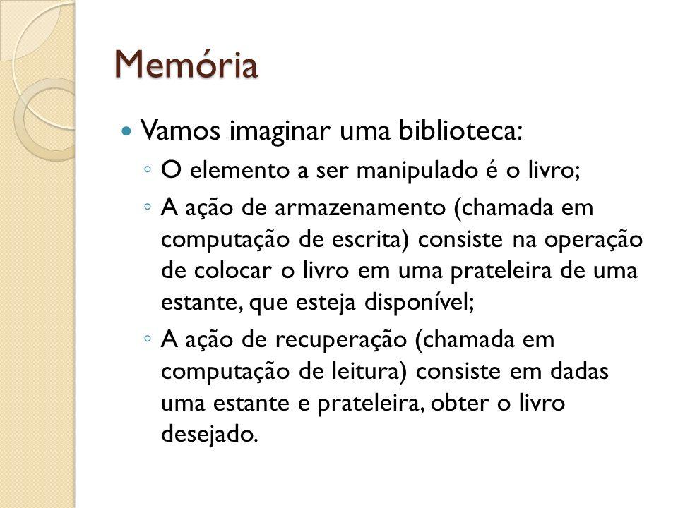 Memória Vamos imaginar uma biblioteca:
