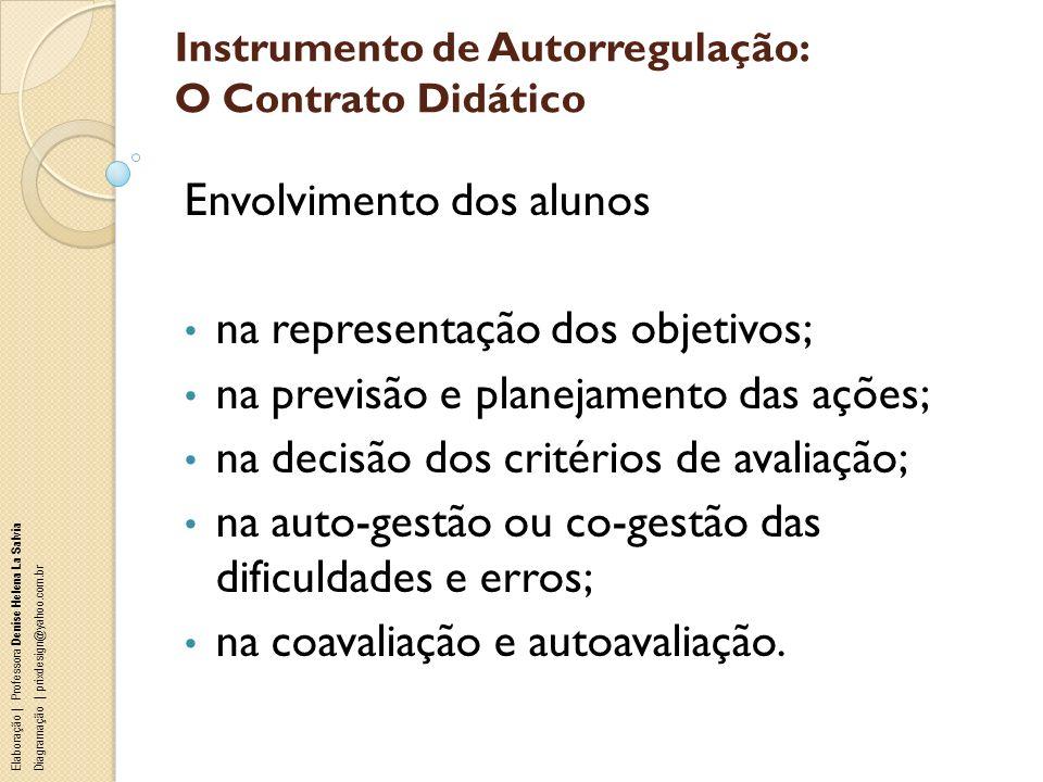 Instrumento de Autorregulação: O Contrato Didático