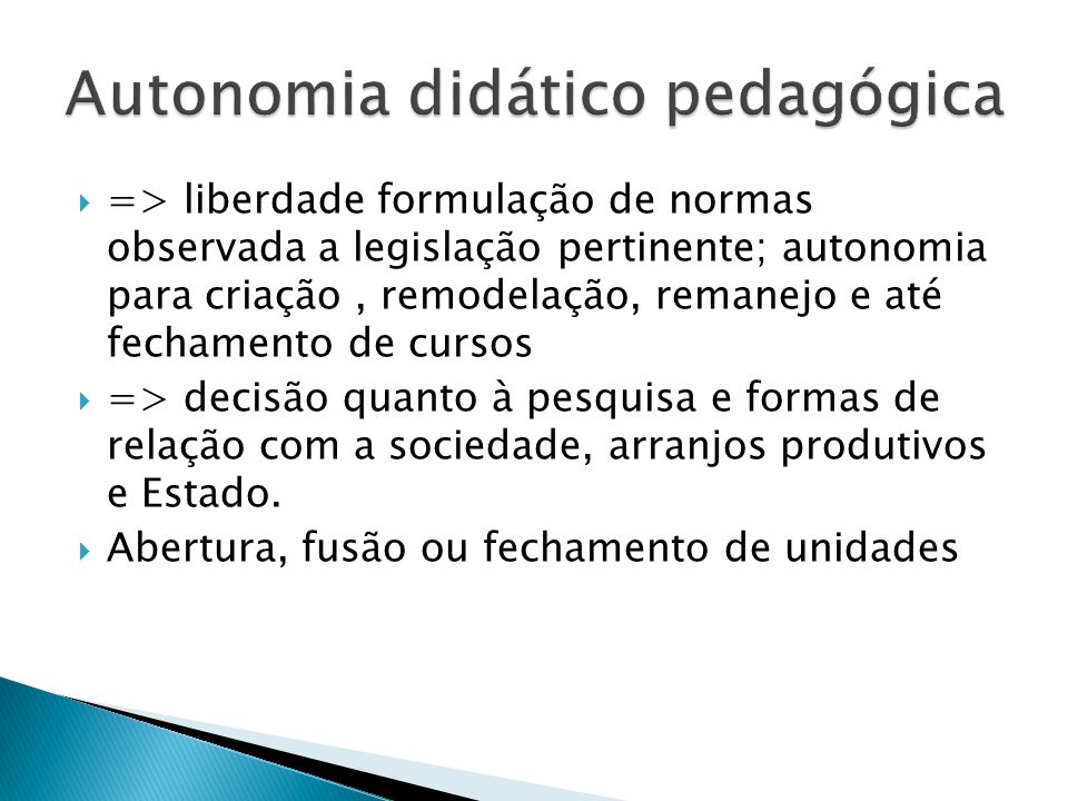 Autonomia didático pedagógica