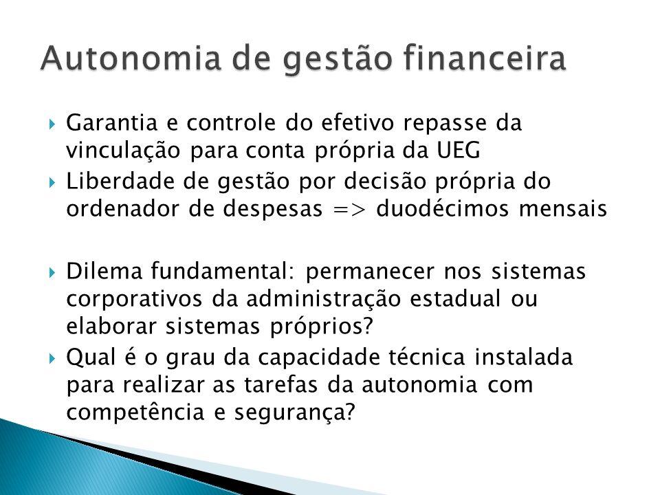 Autonomia de gestão financeira