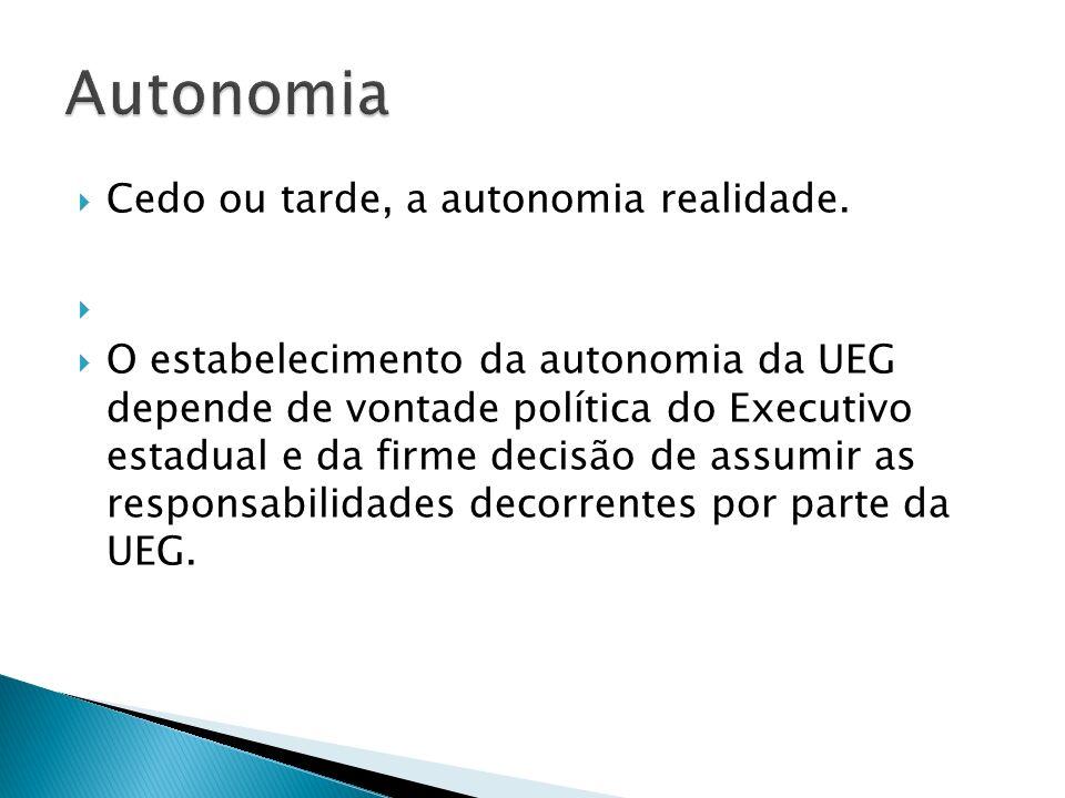 Autonomia Cedo ou tarde, a autonomia realidade.