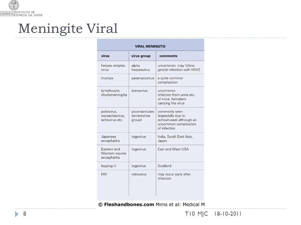 Meningite Viral T10 MJC 18-10-2011