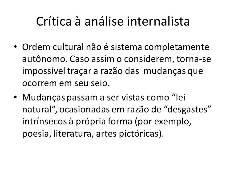 Crítica à análise internalista