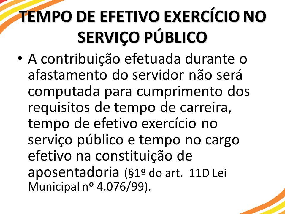 TEMPO DE EFETIVO EXERCÍCIO NO SERVIÇO PÚBLICO