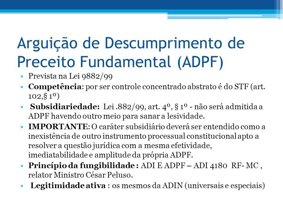 Arguição de Descumprimento de Preceito Fundamental (ADPF)