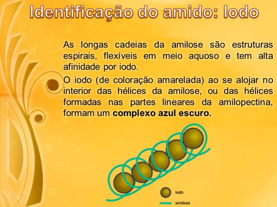 Identificação do amido: Iodo