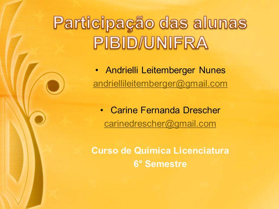 Participação das alunas PIBID/UNIFRA