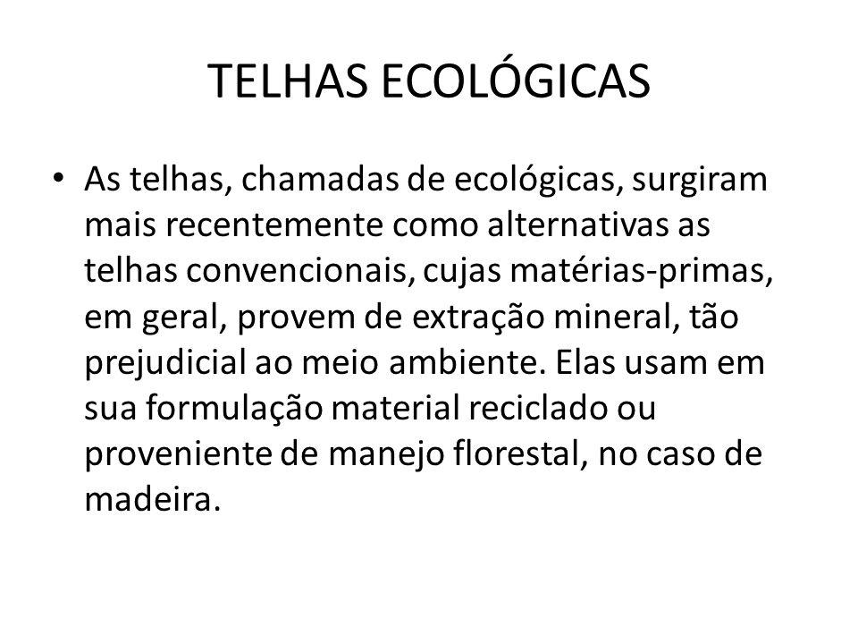 TELHAS ECOLÓGICAS