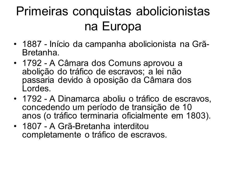 Primeiras conquistas abolicionistas na Europa
