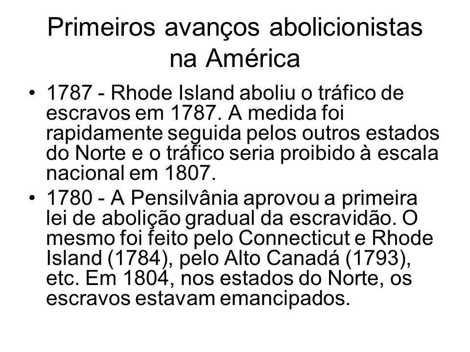Primeiros avanços abolicionistas na América