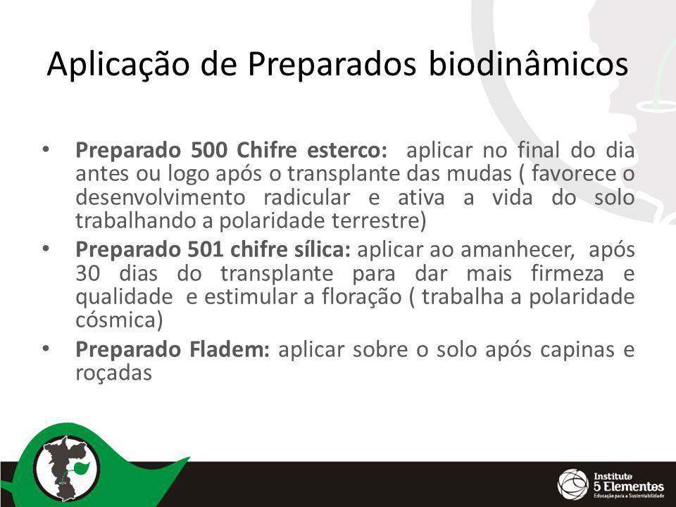 Aplicação de Preparados biodinâmicos