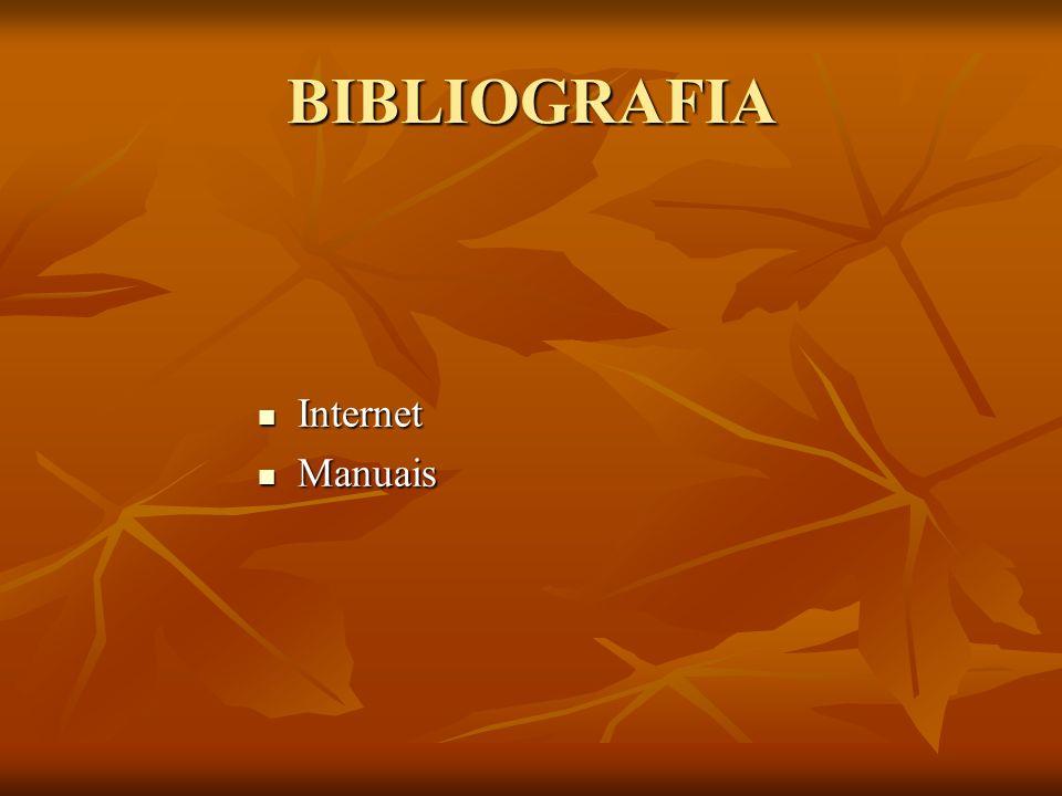 BIBLIOGRAFIA Internet Manuais