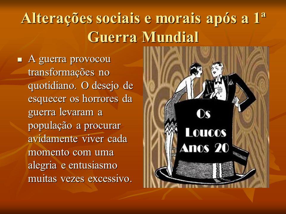Alterações sociais e morais após a 1ª Guerra Mundial