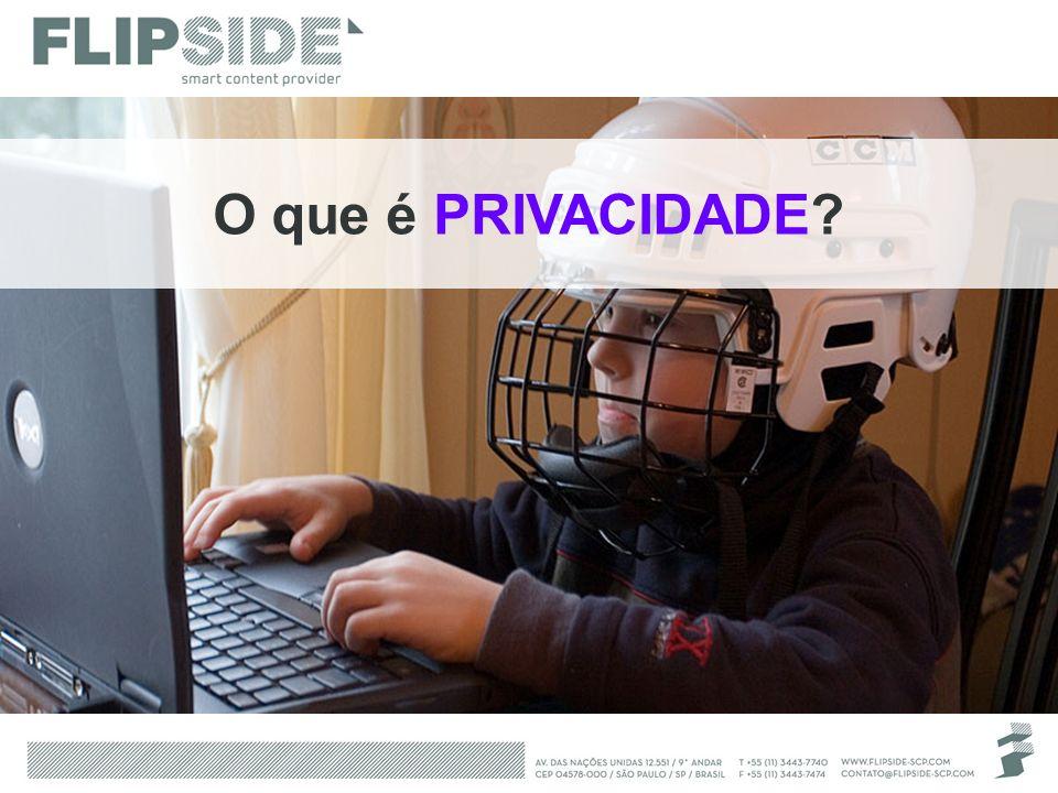 O que é PRIVACIDADE Perguntar quem conhece/tem conta nos serviços que estão na tela.