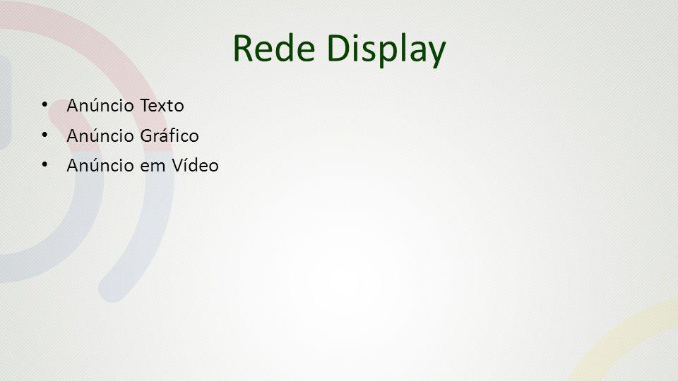 Rede Display Anúncio Texto Anúncio Gráfico Anúncio em Vídeo