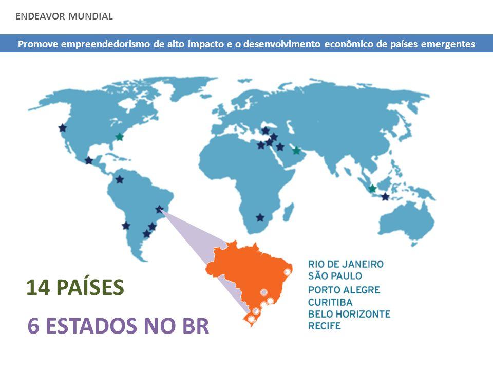 14 PAÍSES 6 ESTADOS NO BR ENDEAVOR MUNDIAL