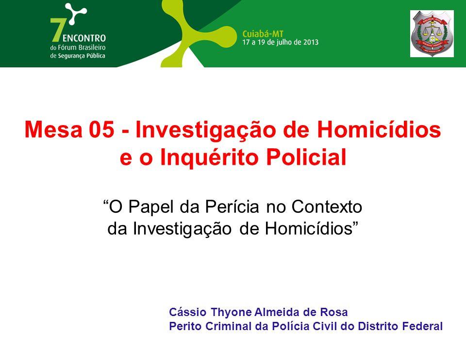Mesa 05 - Investigação de Homicídios e o Inquérito Policial