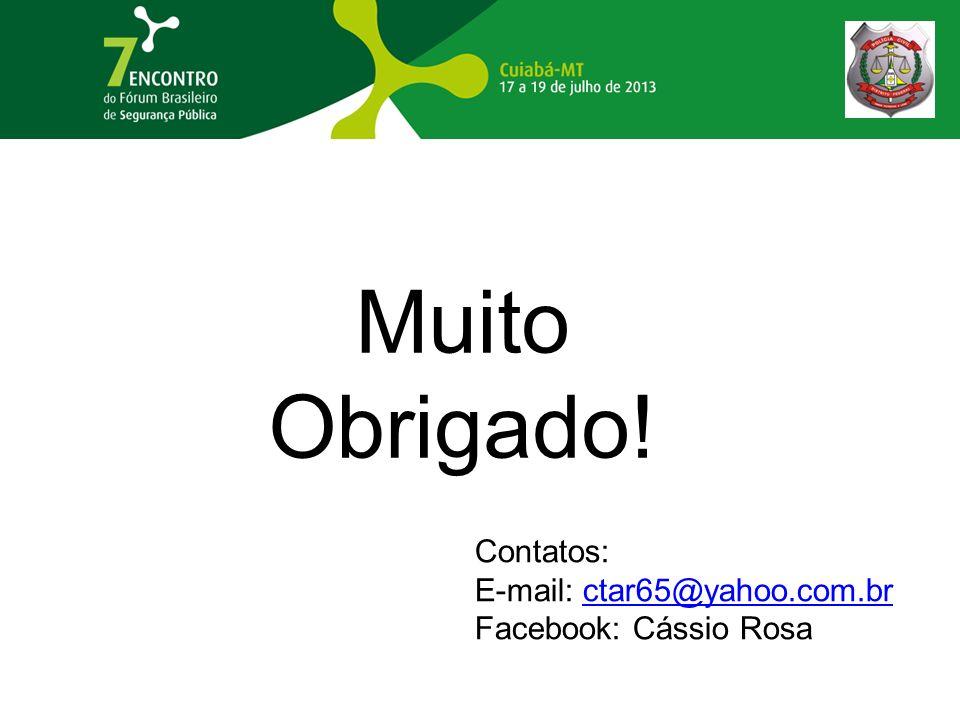 Muito Obrigado! Contatos: E-mail: ctar65@yahoo.com.br