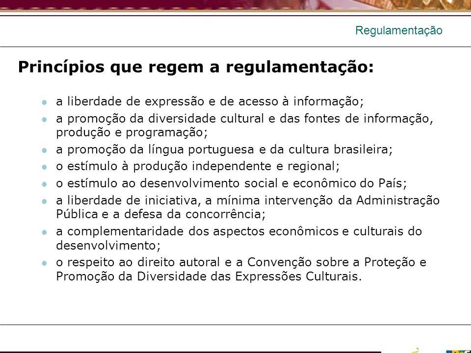 Princípios que regem a regulamentação: