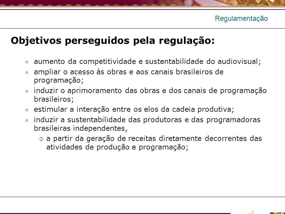 Objetivos perseguidos pela regulação: