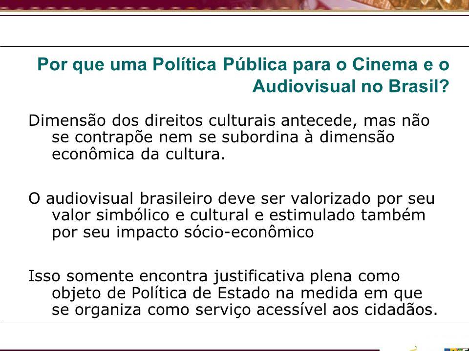 Por que uma Política Pública para o Cinema e o Audiovisual no Brasil