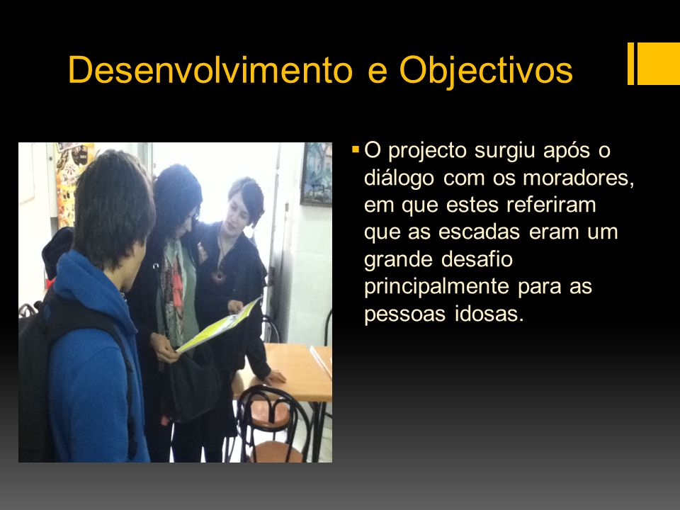 Desenvolvimento e Objectivos