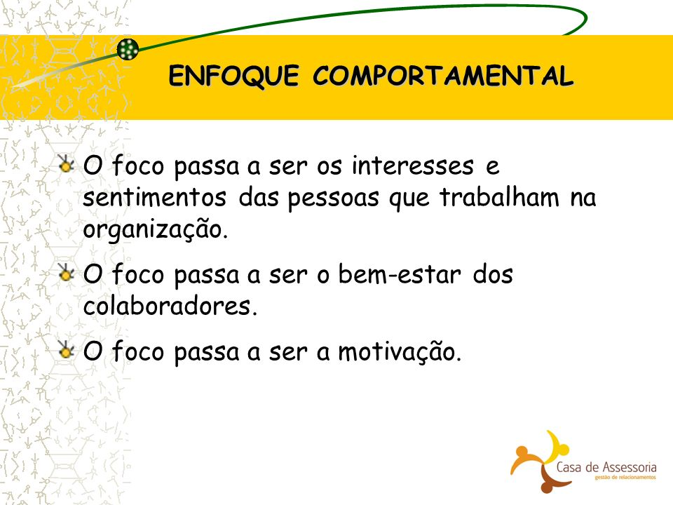 ENFOQUE COMPORTAMENTAL