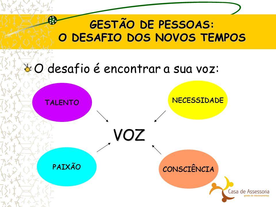 GESTÃO DE PESSOAS: O DESAFIO DOS NOVOS TEMPOS