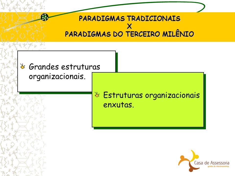 PARADIGMAS TRADICIONAIS X PARADIGMAS DO TERCEIRO MILÊNIO
