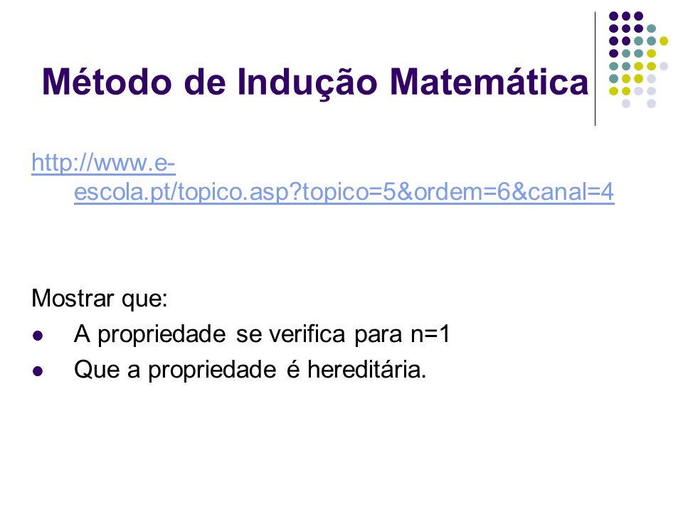 Método de Indução Matemática