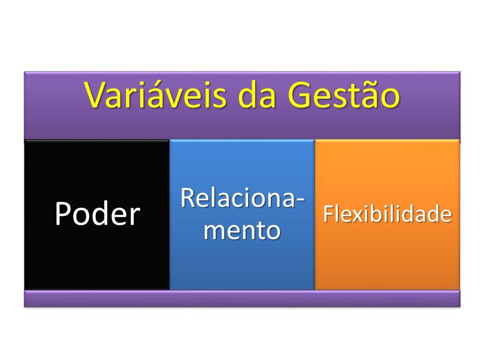 Variáveis da Gestão Poder Relaciona-mento Flexibilidade