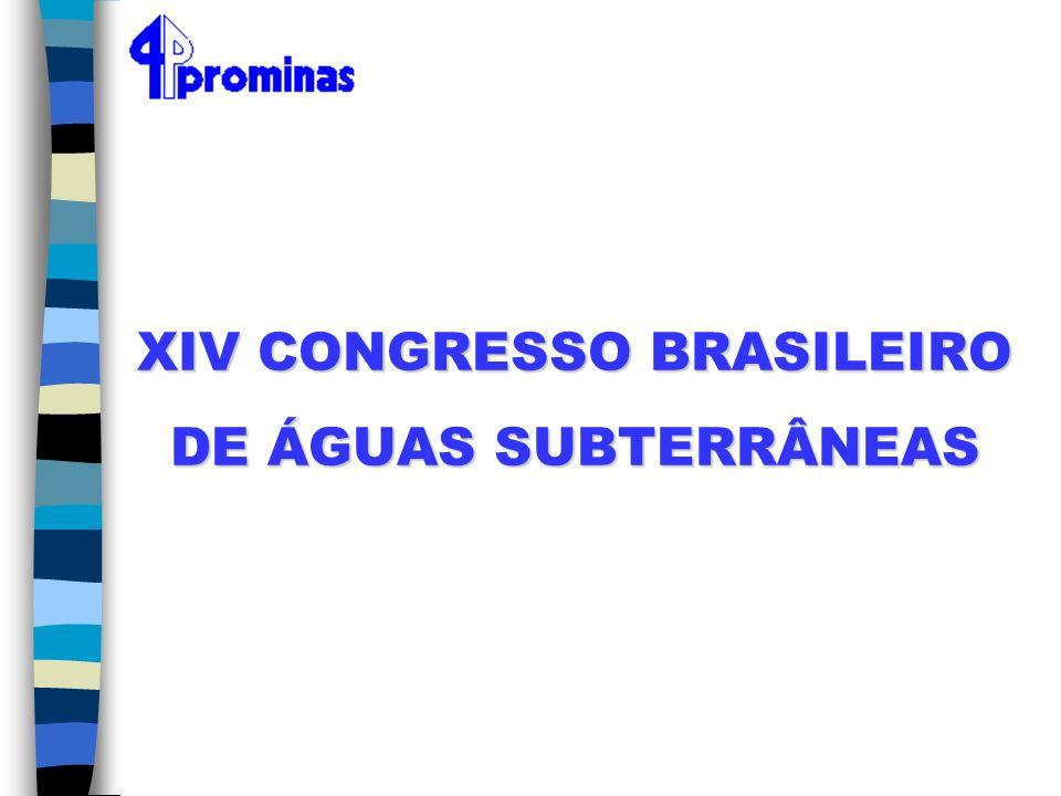 XIV CONGRESSO BRASILEIRO DE ÁGUAS SUBTERRÂNEAS
